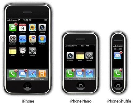 Iphone Nano, Shuffle