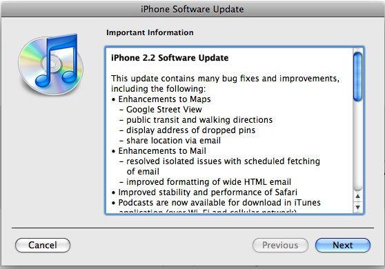 Firmware 3.0 is weergegeven